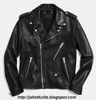 Gambar Jaket Kulit Merk Harley Davidson Emboss