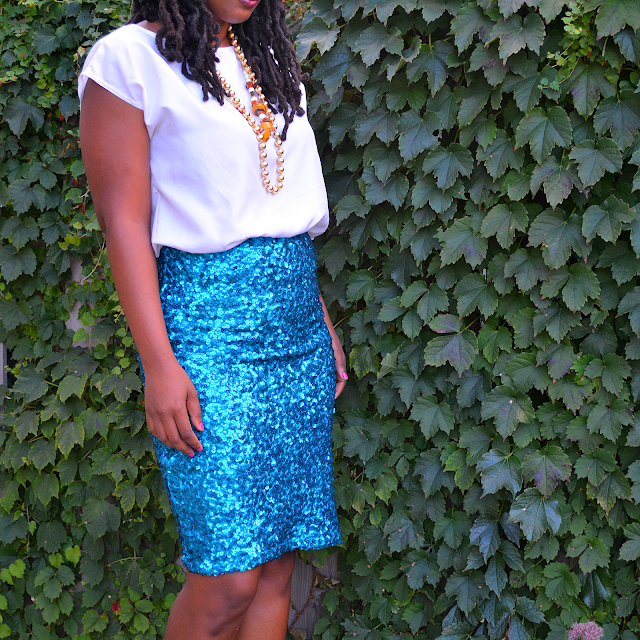 sequin dress turned into a skirt diy with tutorial