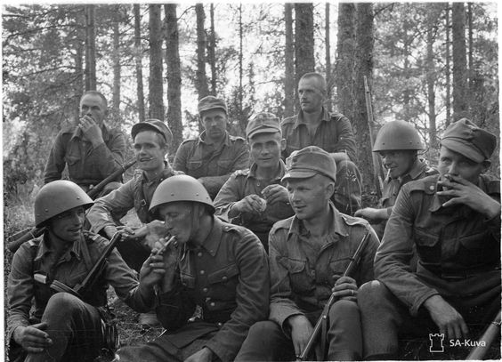 Finnish soldiers taking a break, 28 July 1941 worldwartwo.filminspector.com