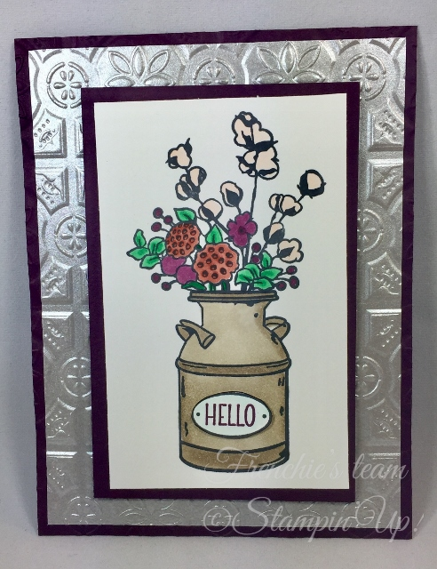Card, Country Home, Tin Tile Embossing Folder, Milk Can