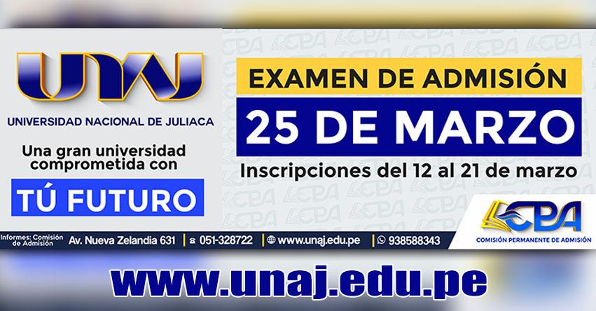 Admisión UNAJ 2018-1 (Examen 25 Marzo) Inscripción Universidad Nacional de Juliaca - www.unaj.edu.pe