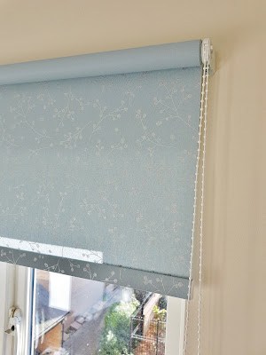duck egg blue kitchen blind