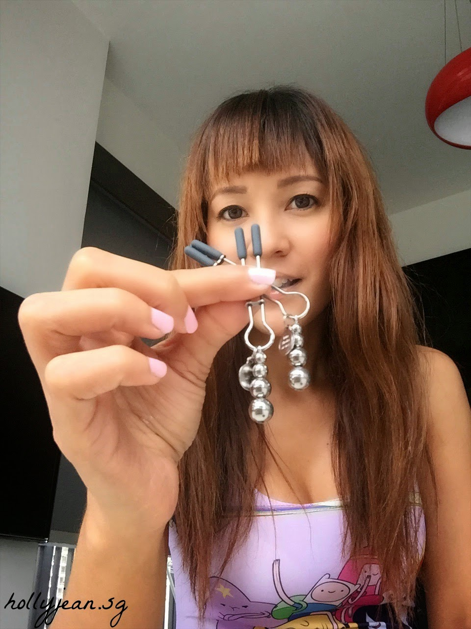 How to put on nipple clamps