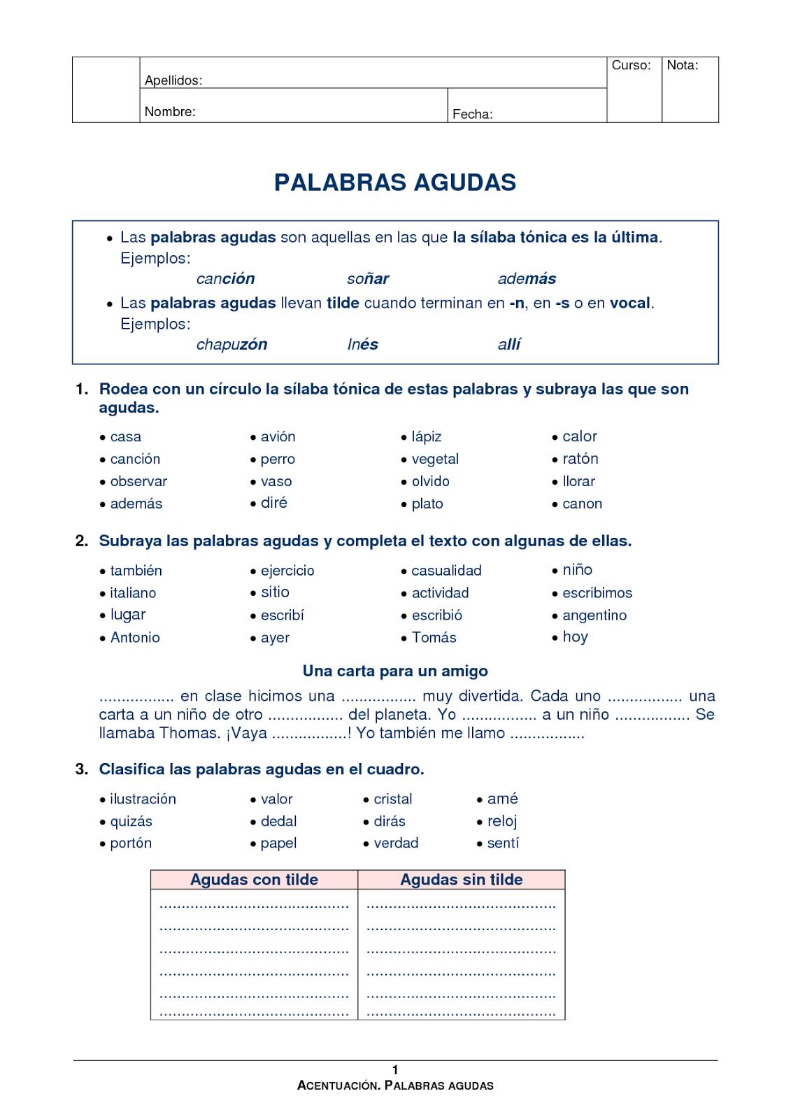 Palabras En Compuestas Worksheet Espanol