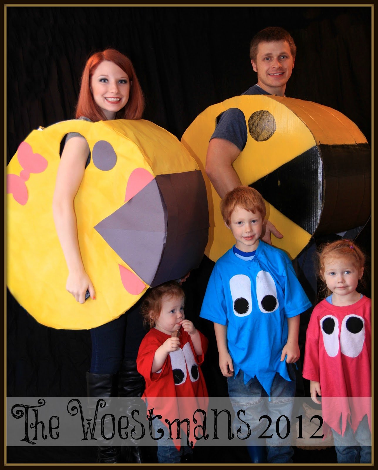 Mr and mrs pacman costumes diy