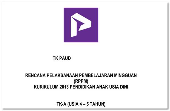 RPPM TK-A 4-5 Tahun Kurikulum 2013