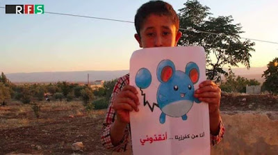 piden ayuda con pokemon go #prayforsyria