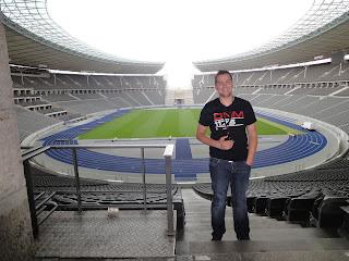 Hier sta ik dan in het Olympisch Stadion van Berlijn
