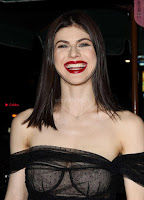 Alexandra Daddario Showing off her  in transparent top at Dior Addict Lacquer Pump Launch ~ Celebs.in Exclusive 006.jpg