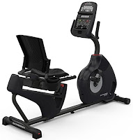 2016 Schwinn MY16 230 Recumbent Exercise Bike, with high speed high inertia perimeter weighted flywheel with 20 ECB resistance levels and 22 programs