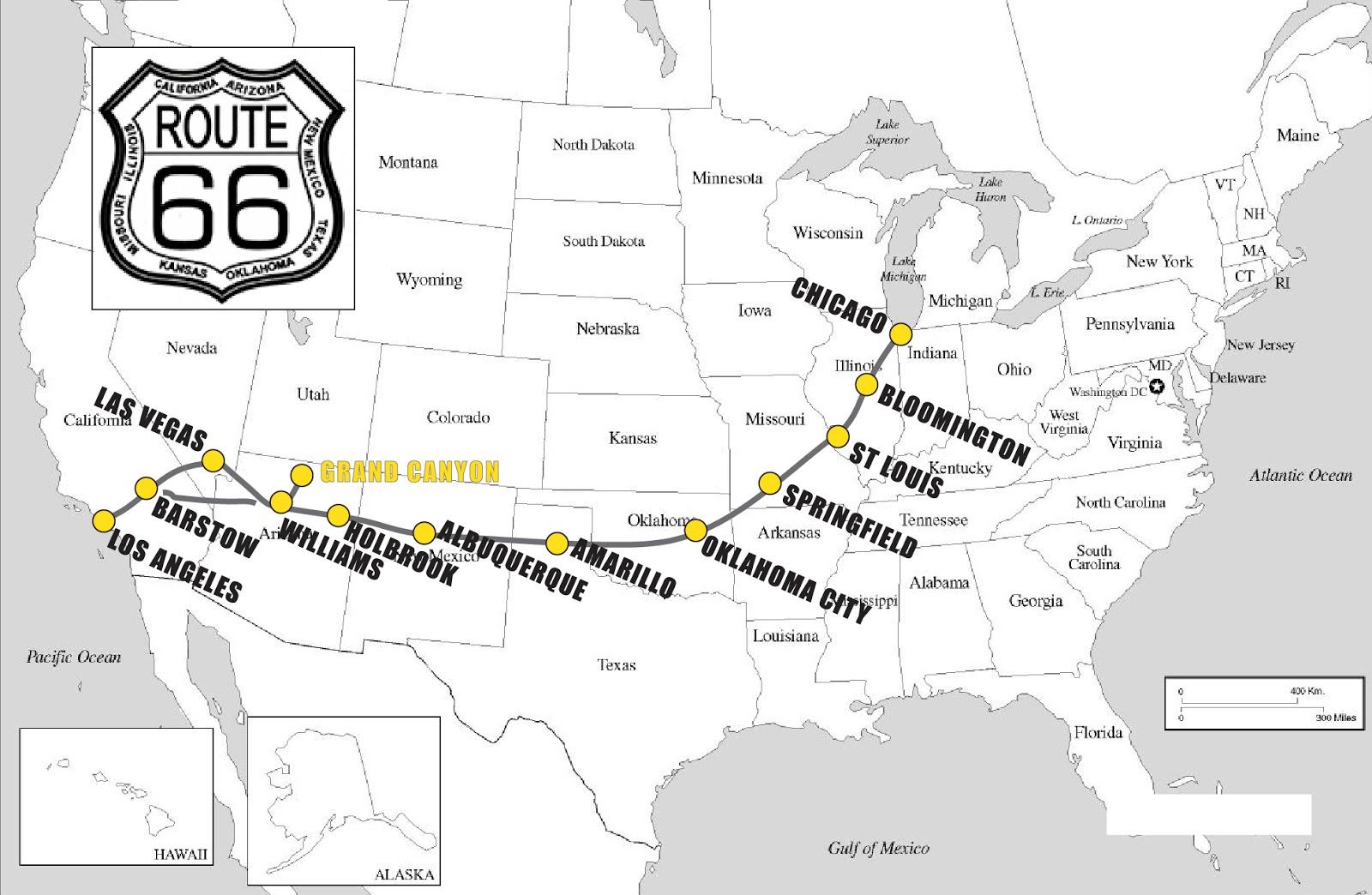 Legendaarisen Route 66 N Reitti Ja Muhkeat Maisemat Route 66