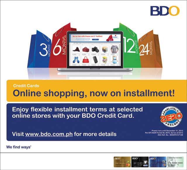 Bdo Offers Online Shopping On Installment Ivan About Town