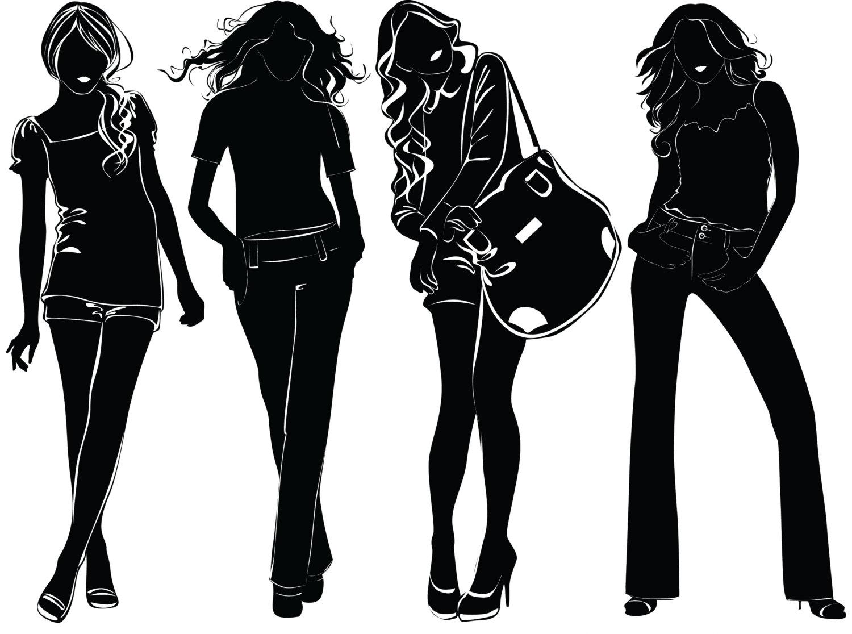 Модная черно белая картинка