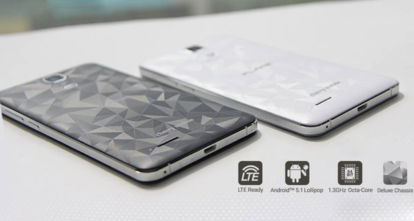 Notice the patterns on the back cover of the Flare S4