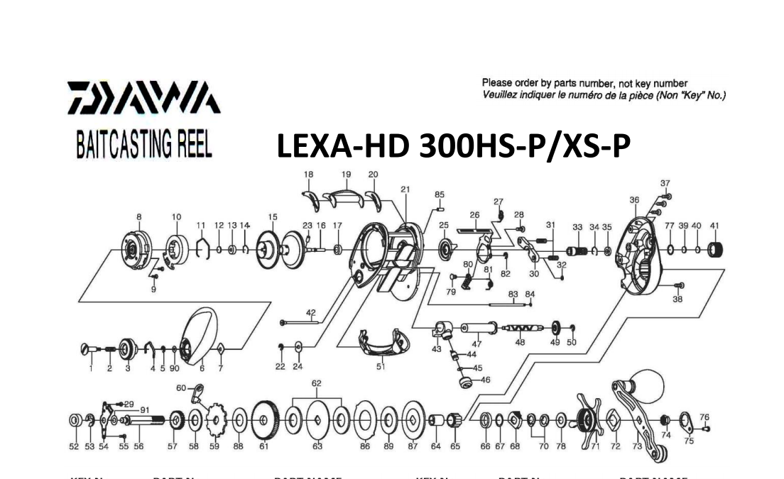 daiwa lexa 100 300 400 schematics ( include lexa HD 300 HD