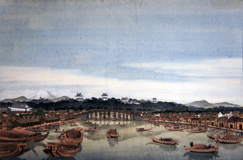 葛飾北斎の新たな西洋画の遠近法などの特徴がみられる絵画がオランダの博物館が所蔵していた。