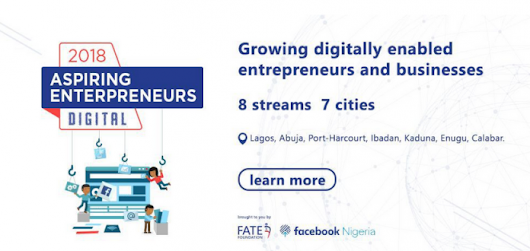 Facebook partners FATE Foundation to Offer Month-Long Bootcamps for entrepreneurs across Nigeria