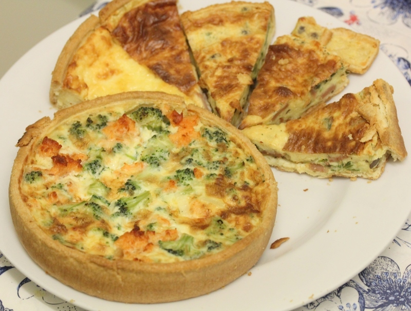 Marks & Spencer salmon broccoli quiche selection