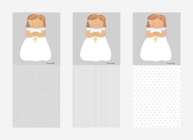 PRIMERA COMUNIÓN diseños de niña personalizados
