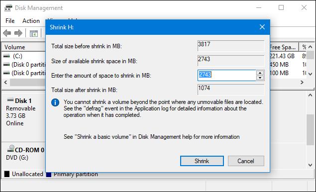 كيفية تقسيم الفلاشة لأكثر من بارتيشن بدون برامج 5.PNG
