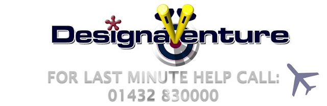 DesignaVenture Logo with telephone number 01432830000