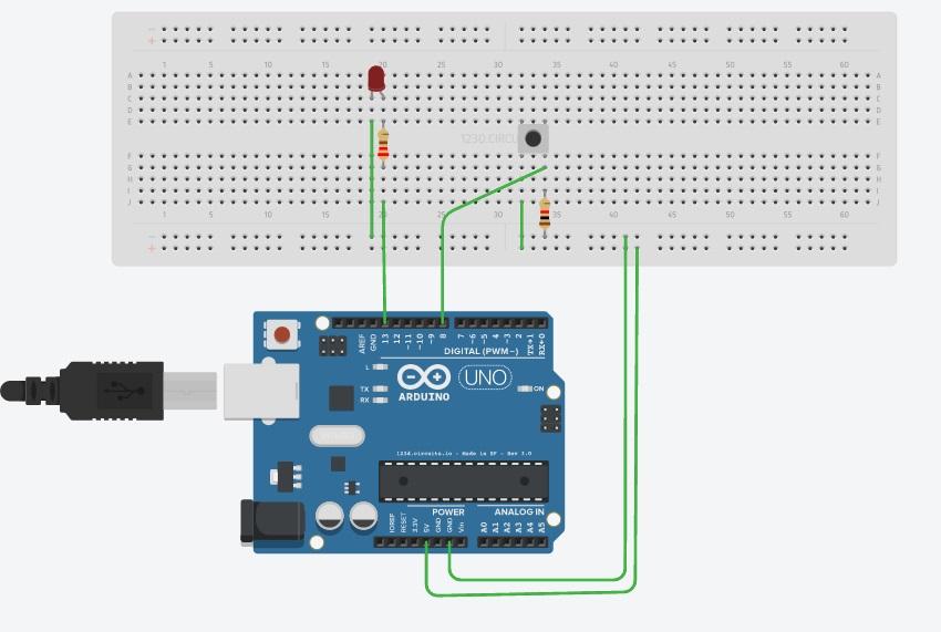 Dinshatech arduino tutorial push button debounce
