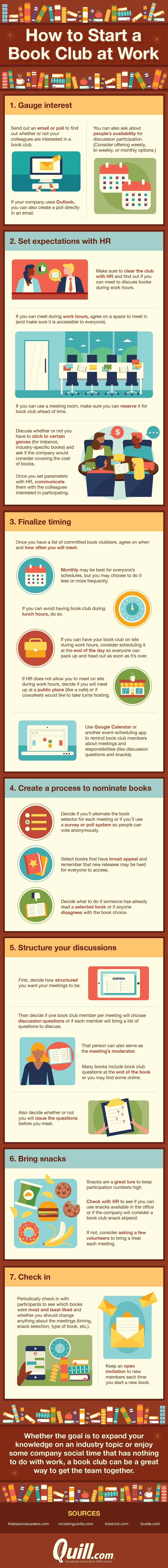 How to start a book club at work #infographic