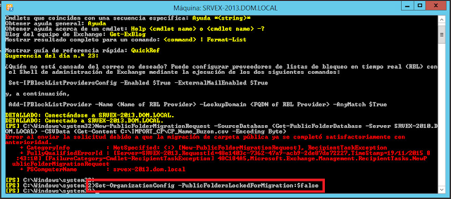 Set-OrganizationConfig -PublicFoldersLockedforMigration:$false -PublicFolderMigrationComplete:$false