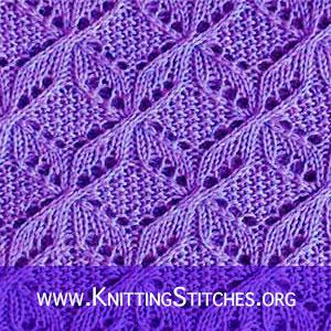 Free lace knitting stitches. FREE KNITTING PATTERN - Windmill knitting stitch #knittingpattern #freeknitting #knittingpatterns