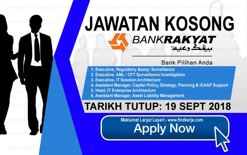 Jawatan Kerja Kosong Bank Rakyat logo www.ohjob.info www.findkerja.com september 2018