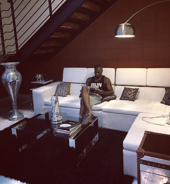 Peter Okoye shows off his spacious sitting room