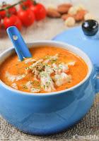 Sopa de romesco con pollo