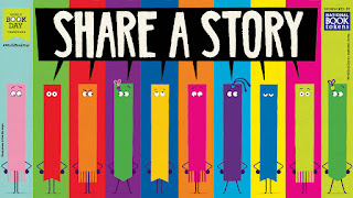 Bookmarks asking you to Share a Story for just 10 minutes a day!