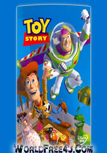 Poster Of Free Download Toy Story 1995 300MB Full Movie Hindi Dubbed 720P Bluray HD HEVC Small Size Pc Movie Only At worldfree4u.com