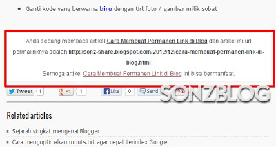 sonz blog, permalink, permanen link, linked