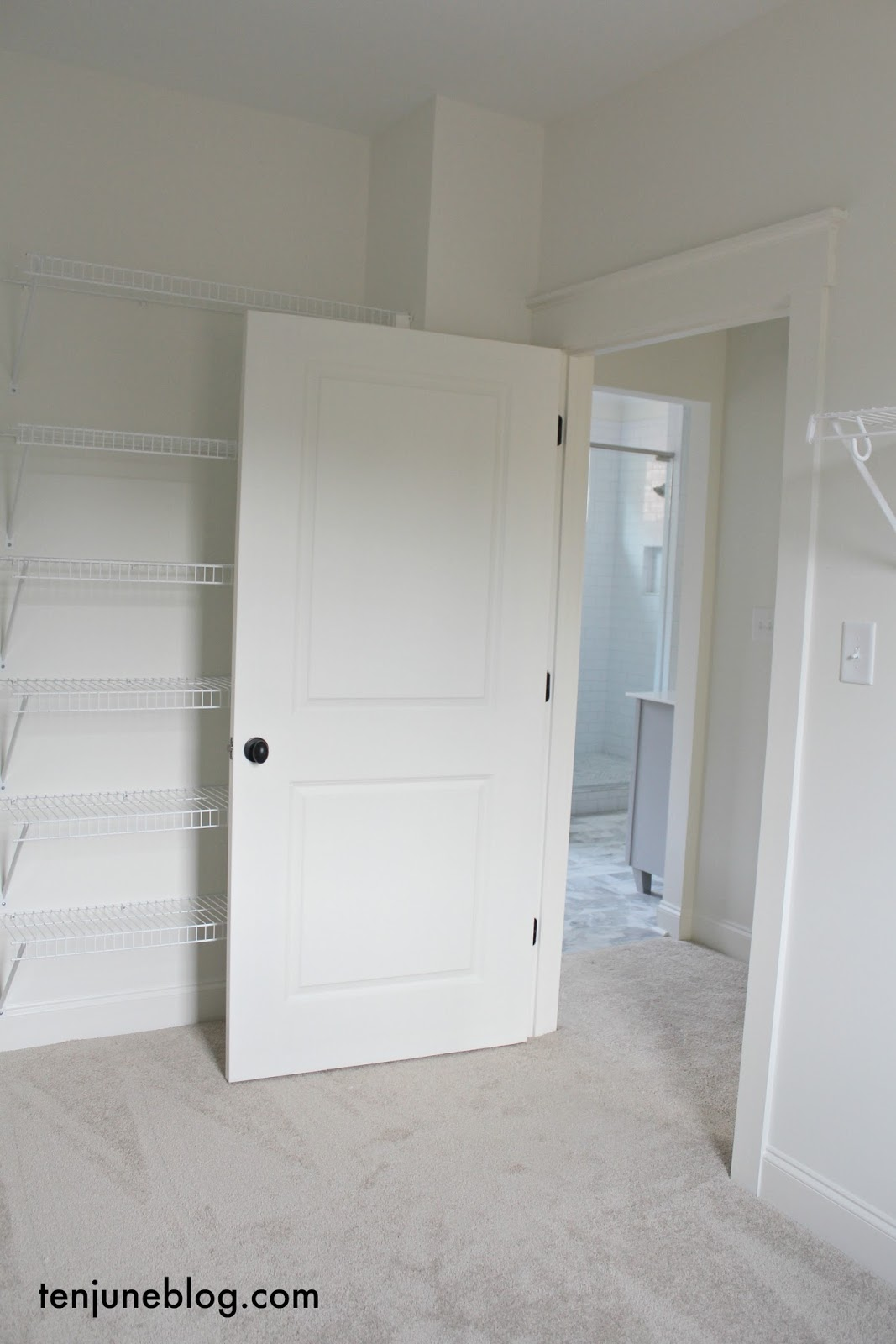 Ten June My Master Bedroom And Closet A Blank Slate