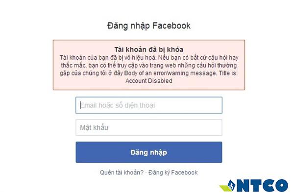 bi khóa tai khoan facebook