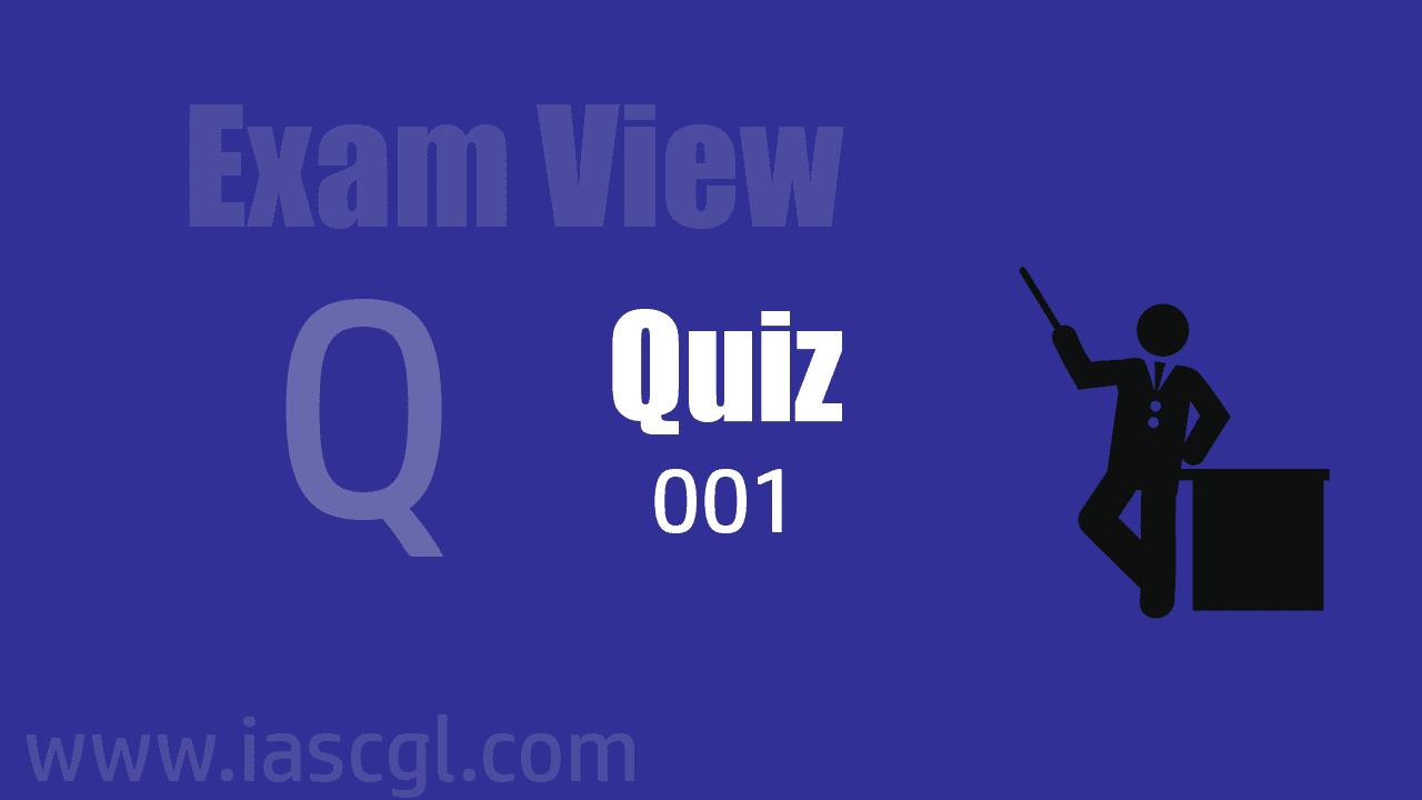Exam View Quiz 001
