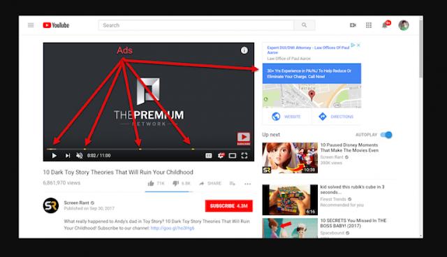 iOS Android masaustu Youtube Reklamlarini Engellemek