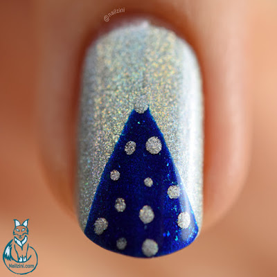 Holographic Christmas Nail Art WITHOUT Nail Art Tools Nailzini