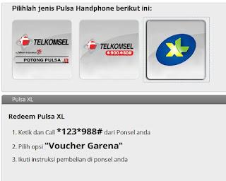 Cara isi cash garena dengan pulsa XL ~ Spartan Clan PB Indonesia