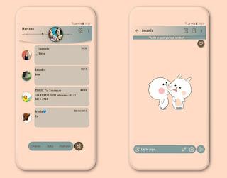 Cuty Kiss Theme For Fouad WhatsApp & YOWhatsApp By Mary