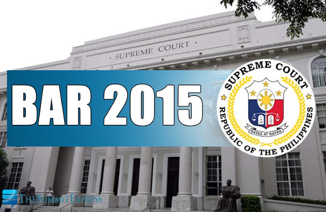 List of Examinees: 7,146 to take November 2015 Philippine Bar Exam