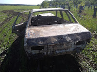 "На площади 6 кв. м сгорел автомобиль ""ВАЗ 21099""."