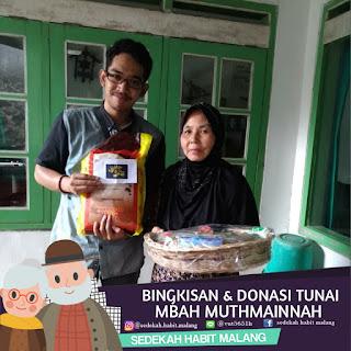 Mbah Mutmainnah : Bingkisan & Donasi Tunai