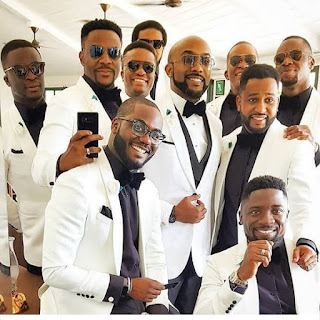 Banky W with his grooms men