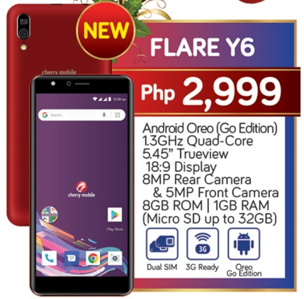 Cherry Mobile Flare Y6 Specs, Price