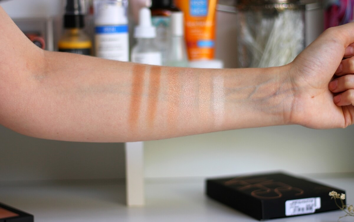 nars bord de plage swatches