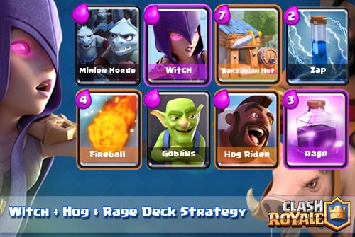 Strategi Deck Witch + Hog + Rage Arena 4-7 Clash Royale