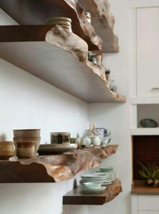 boiserie & c.: assi di legno: idee di arredo - Mensole Con Assi Di Legno